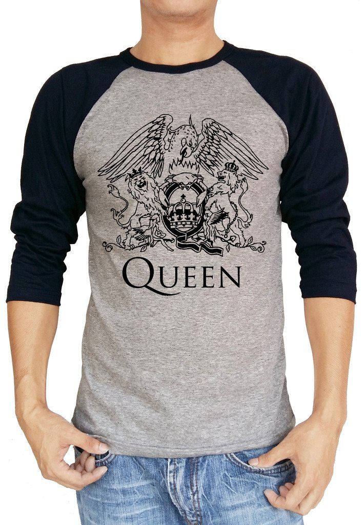 ed2f857c Queen Band Music Freddie Baseball Tee Raglan 3/4 Sleeve T Shirt -- Awesome  products selected by Anna Churchill