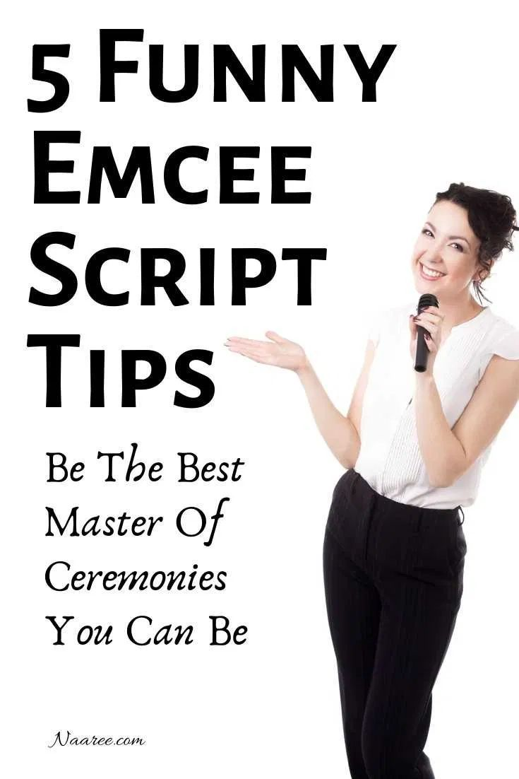 Need ideas for a funny emcee script? Whether you need an emcee script for seminar, emcee script for birthday party, talent show, wedding, graduation or any event or program, these 5 tips will help you find some master of ceremonies humor to spice up your emcee script and be the best master of ceremonies you can be #emcee #funny