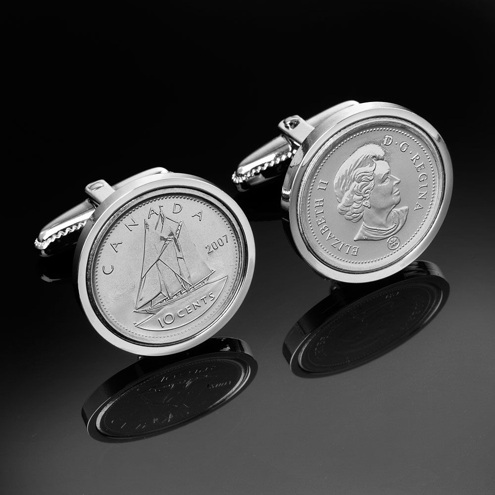 Canada 10 cent cufflinks mint canadian coins from www