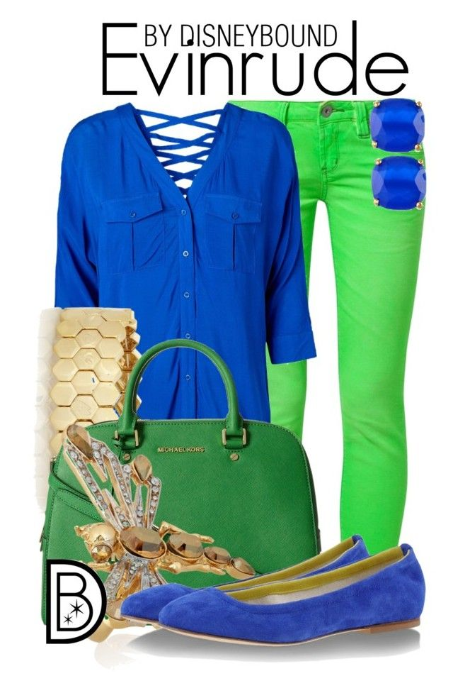 """Evinrude"" by leslieakay ❤ liked on Polyvore featuring One Green Elephant, Vero Moda, Marc by Marc Jacobs, MICHAEL Michael Kors, Roberto Cavalli, Anniel, Kate Spade, women's clothing, women and female"