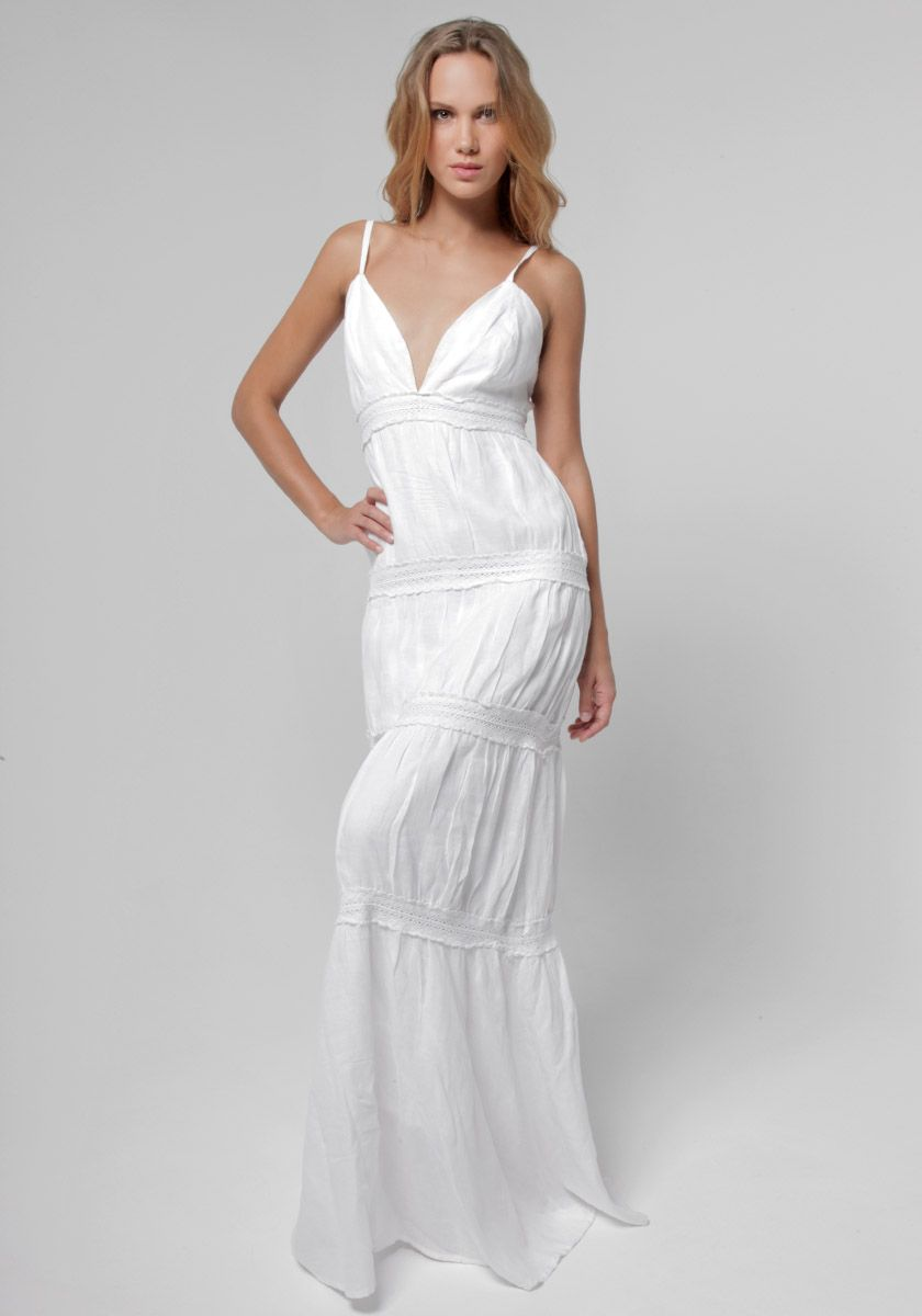 100 Linen Goddess Laced Low Back Maxi In White Dresses Beach Wedding Style Linen Women