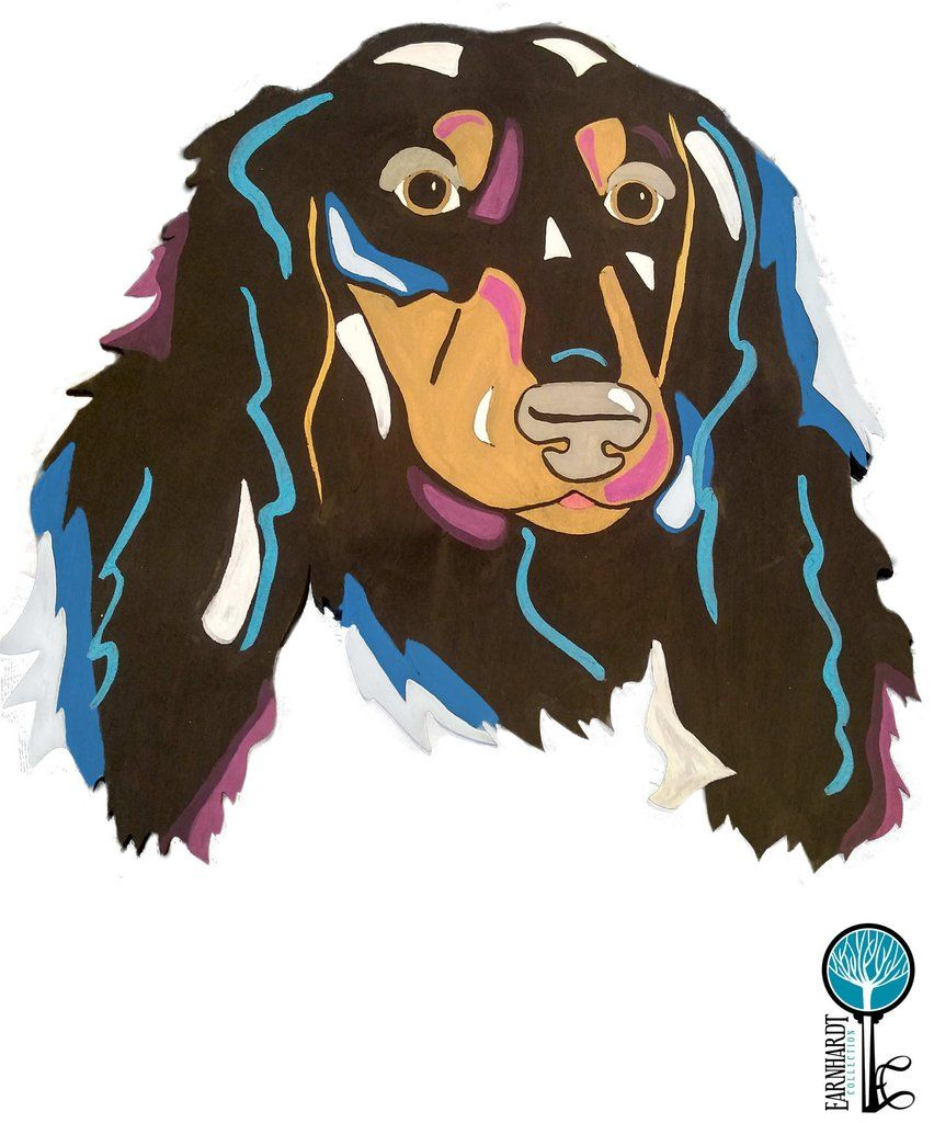 Dachshund long haired diy pop art paint kit earnhardt collection paint your own pop art dachshund fun do it yourself painting kits solutioingenieria Choice Image