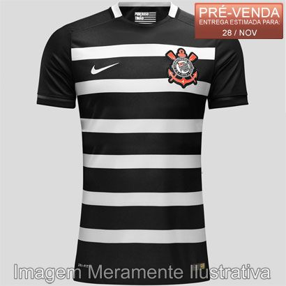 5f85c3ab684cc Pré-venda - Camisa Nike Corinthians II 2015 s nº - Shoptimão