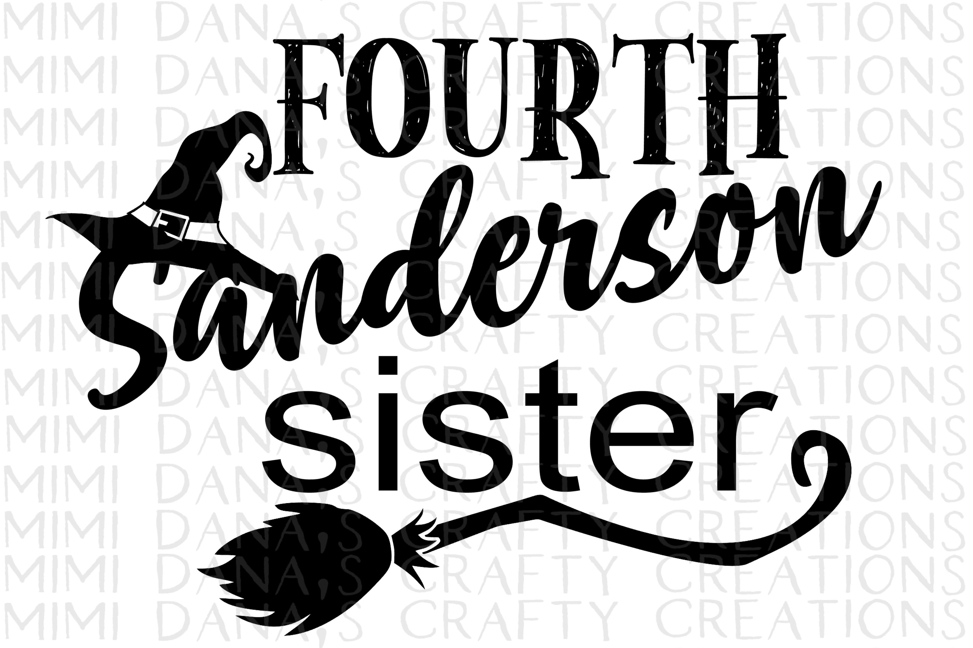 Fourth Sanderson Sister Halloween Clipart Transfer