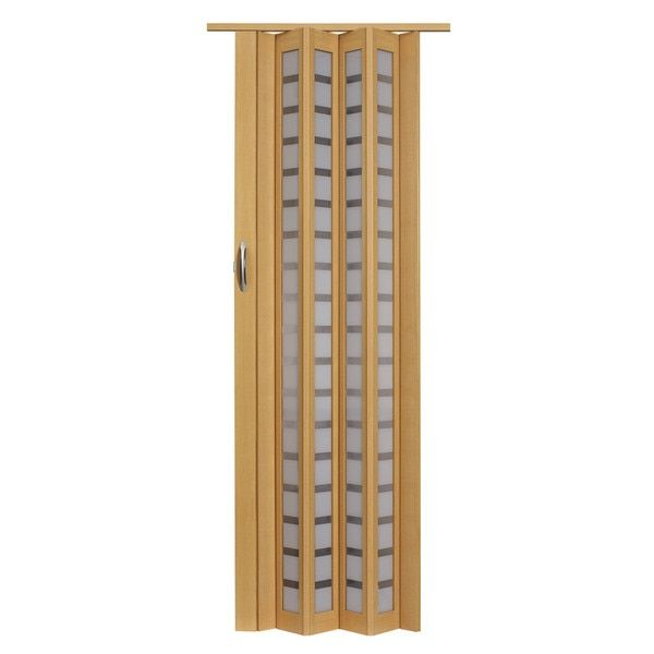Homestyle Metro Beech with Frosted Squares Folding Door | Pocket ...