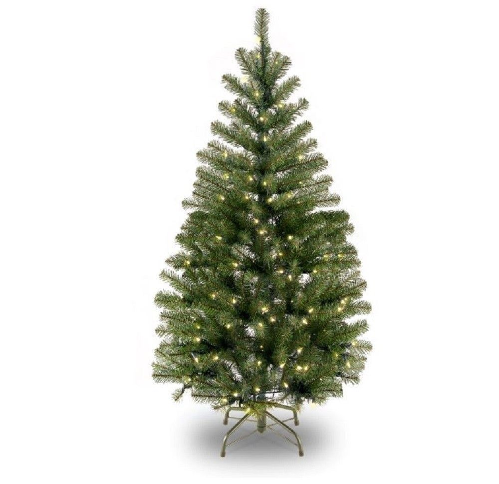 Pre Lit 4 Ft Christmas Tree 100 Clear Lights Stay Lit Hinged Branches Holiday De Unbranded Slim Artificial Christmas Trees Christmas Tree Clear Lights Pre Lit Christmas Tree