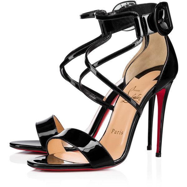 3fb7d251c1bc Choca 100 Black Patent Leather - Women Shoes - Christian Louboutin ( 845) ❤  liked on Polyvore featuring shoes