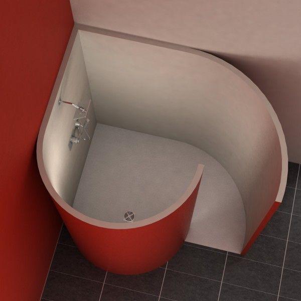 Schneckendusche mit Ecke 150x117,5 cm (Diy House Bathroom) Diy - badezimmer duschschnecke