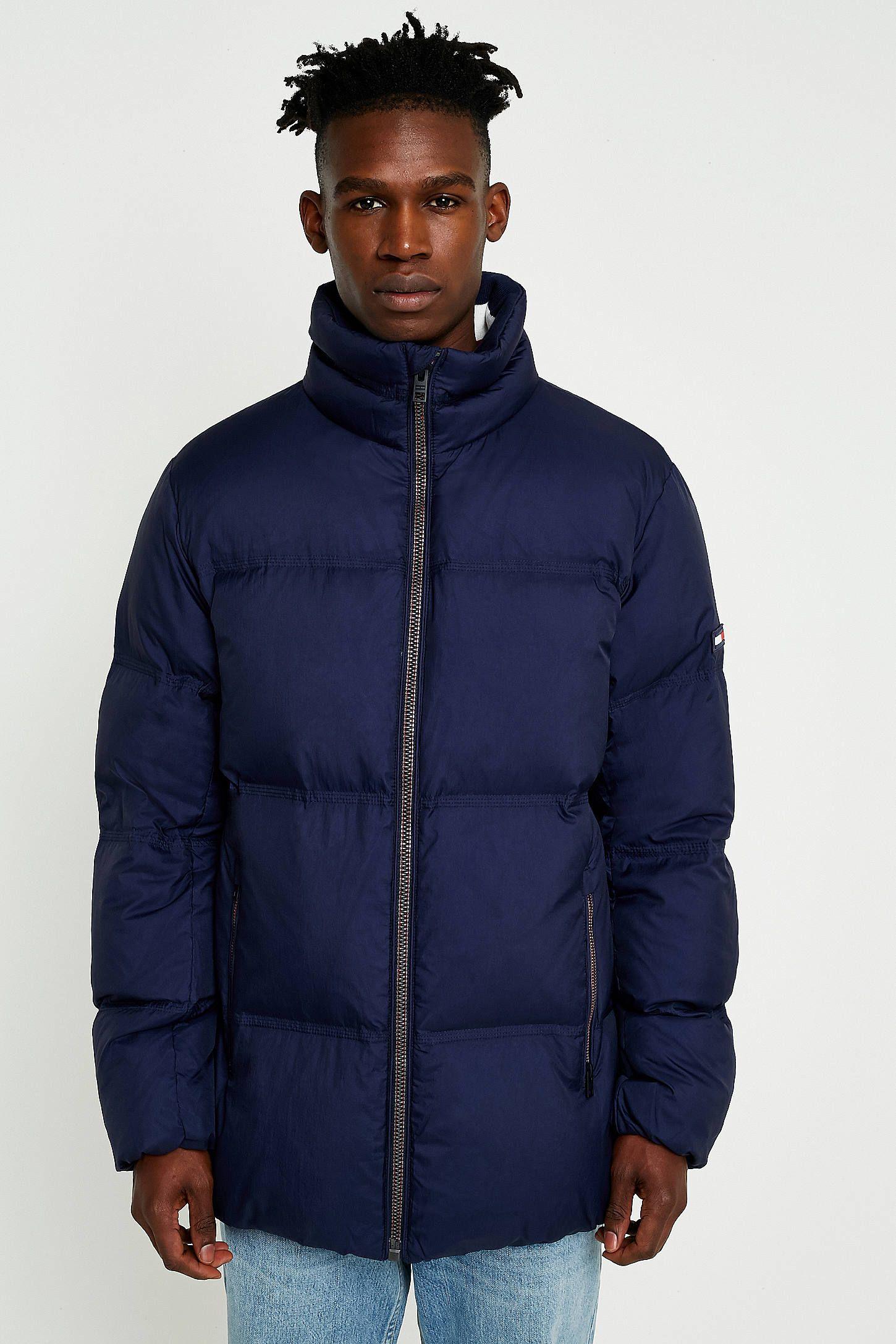 da8ac78fc7194 Tommy Jeans Longline Navy Down Puffer Jacket | AW19 | Puffer jackets ...
