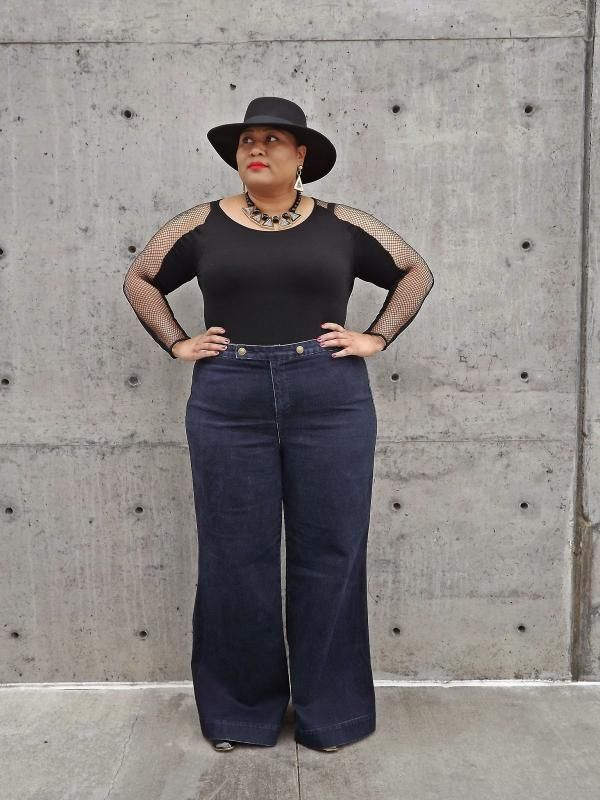 wide leg plus size jeans (02) | Outfit Ideas | Pinterest | Plus ...