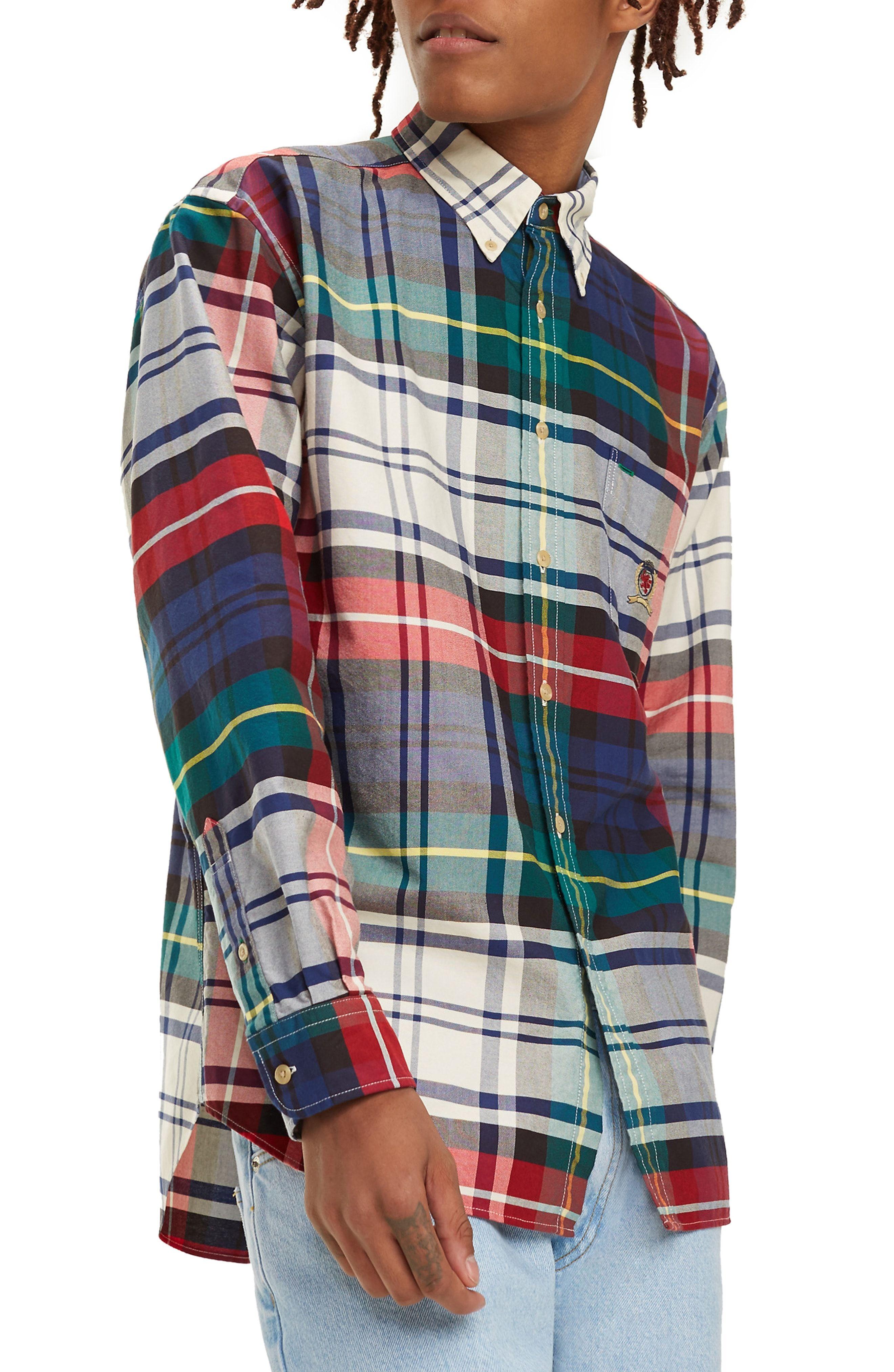 6bf70de6 TOMMY JEANS TJM PLAID CREST SPORT SHIRT. #tommyjeans #cloth | Tommy ...
