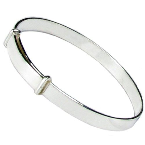 Sterling Silver Just Like Mommy Polished Slip-on Childs Bangle