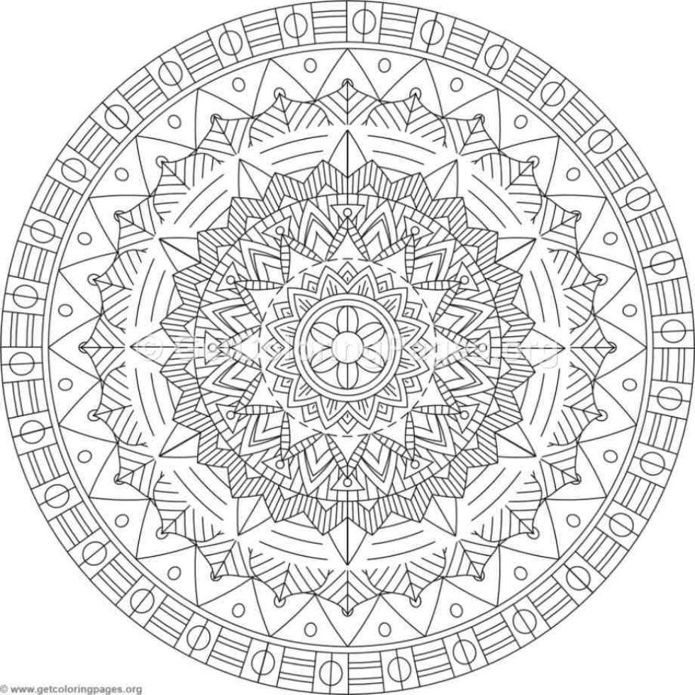Advanced Mandala Coloring Pages Page 37 Getcoloringpages Org Mandala Coloring Pages Mandala Coloring Coloring Book Art