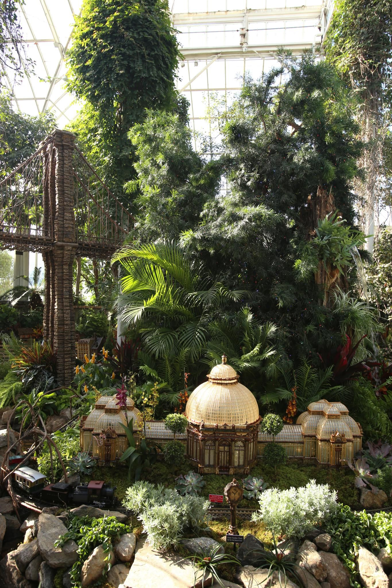 The Holiday Train Show At The New York Botanical Garden Day 2