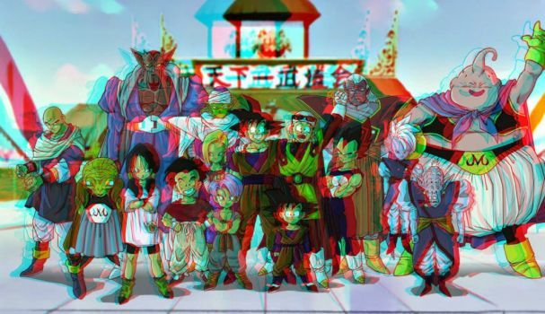 Dragon Ball Z In 3d Anaglyph By Xmancyclops With Images Jack