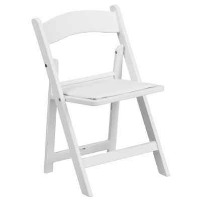 Kids White Resin Folding Chair With White Vinyl Padded Seat White Folding Chair Plastic Folding Chairs Kids Folding Chair