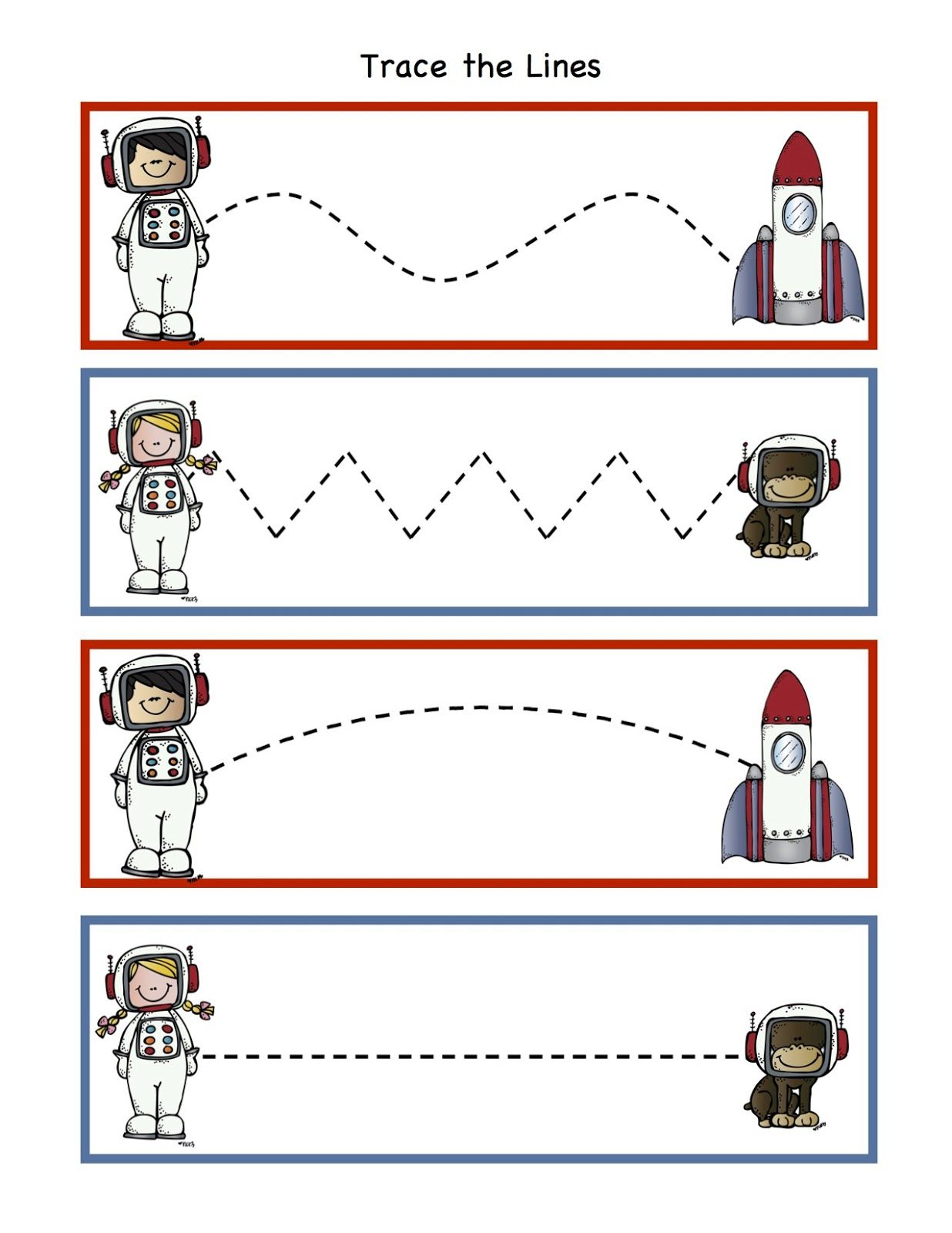 Preschool Printables Rocket To The Moon Printable
