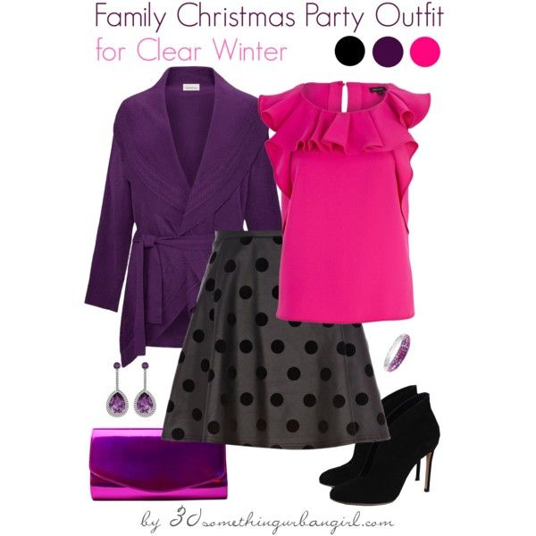 4fc0d346ee42 Family Christmas Party Outfit Holiday look for Clear Winter by  thirtysomethingurbangirl on Polyvore