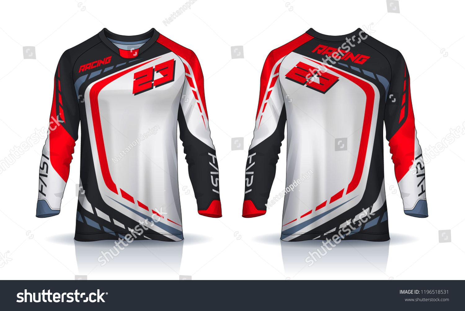 Download T Shirt Sport Design Template Long Sleeve Soccer Jersey Mockup For Football Club Uniform Front And Back View Sports Jersey Design Sports Design Jersey Design