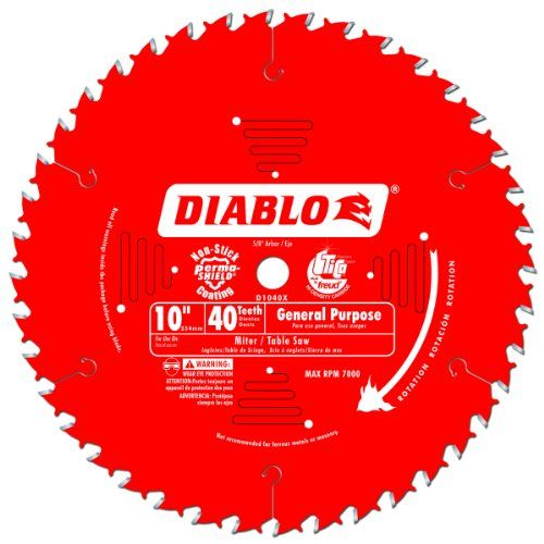 Freud D1040X Diablo 10-Inch 40-Tooth ATB Common Objective Noticed Blade with 5/Eight-Inch Arbor and PermaShield Coating The Diablo Basic-Objective Noticed