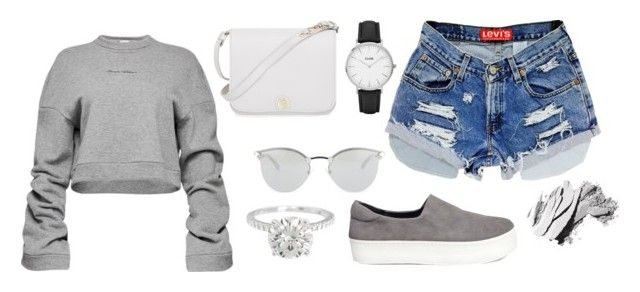 """""""grey :))"""" by jericariggs ❤ liked on Polyvore featuring Opening Ceremony, Magda Butrym, Furla, Fendi, CLUSE and Bobbi Brown Cosmetics"""