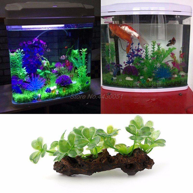 Aquarium Fish Tank Artificial Plastic Plants Grass Decoration Ornament Landscape