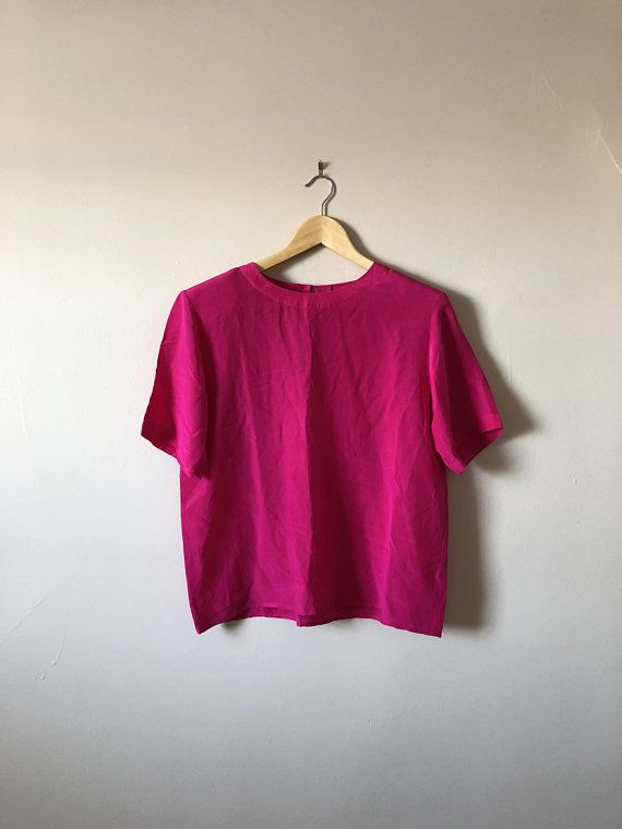 e96e4242 80s/90s Pink Christie & Jill Silk T-Shirt in 2018 | Vintage Clothing ...