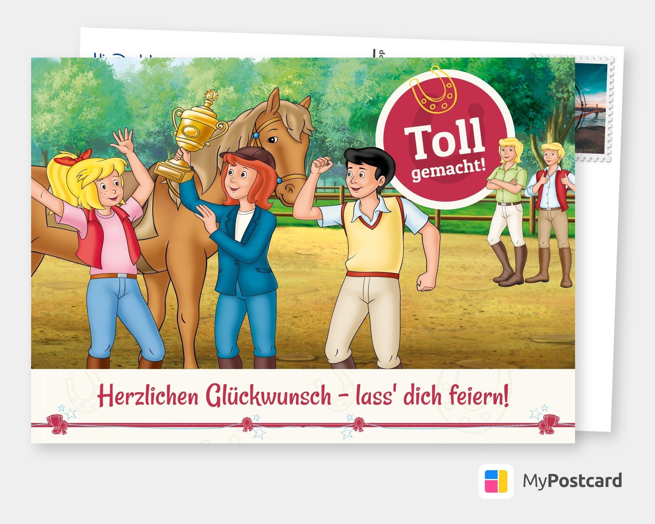 Bibi Tina Gratulationskarte Film Musik Karten Echte Postkarten Online Versenden Bibi Und Tina Postkarten Filme