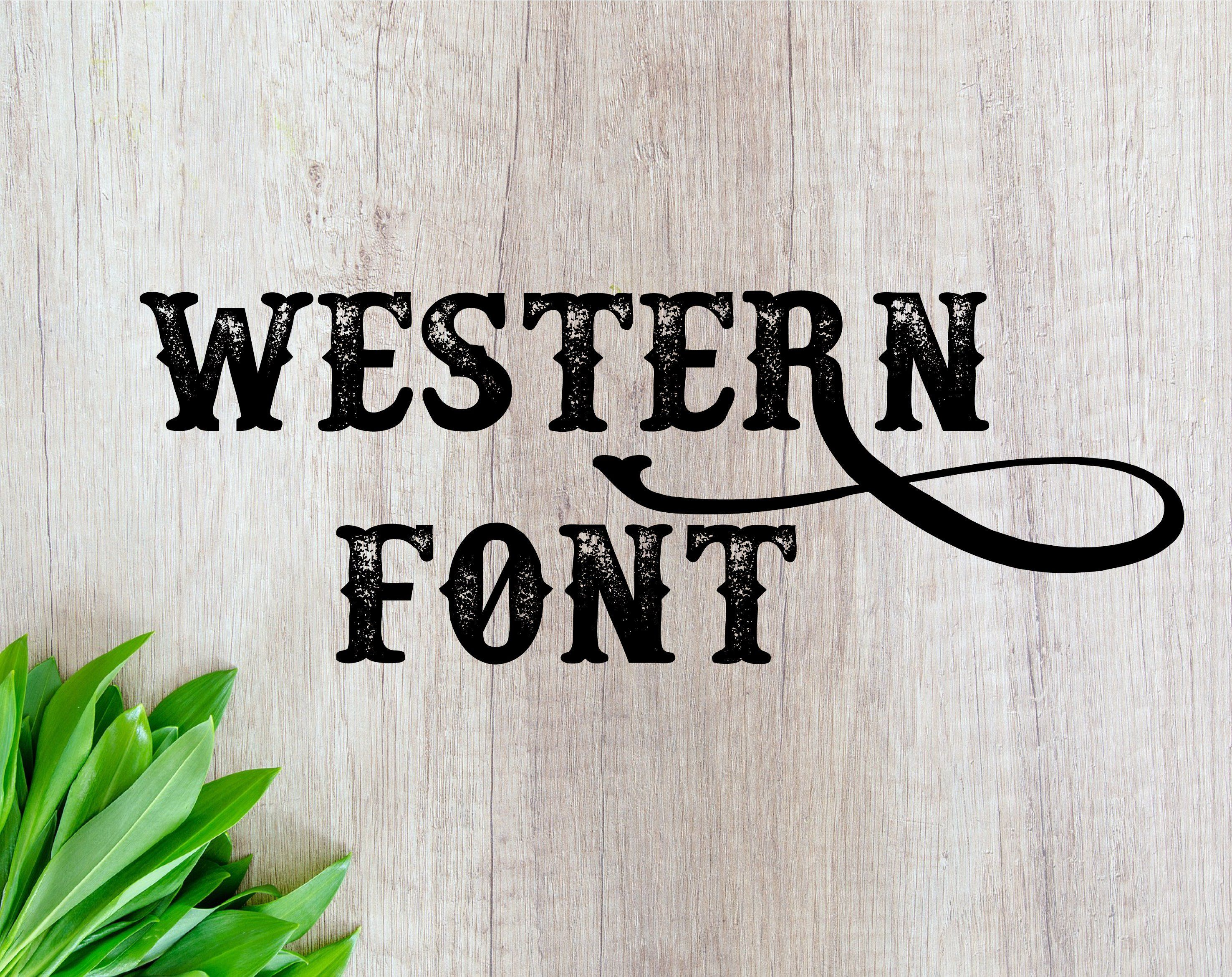 FONT FOR CRICUT font otf Western font Western distressed