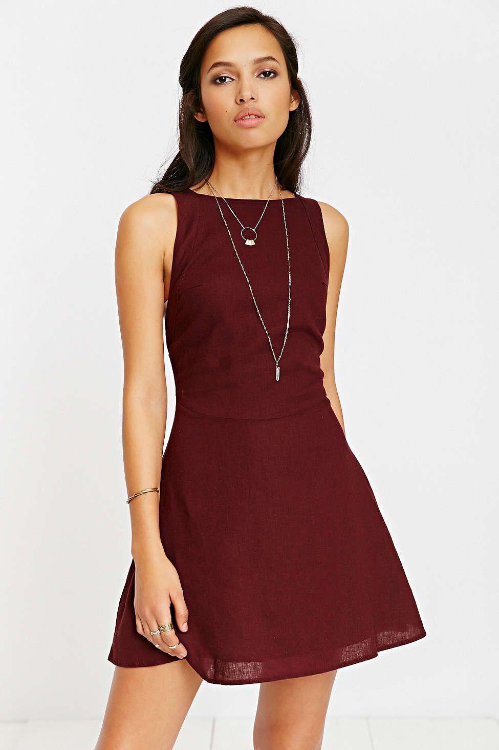 Kimchi Blue Bethany Linen Apron Dress Dress Me Up