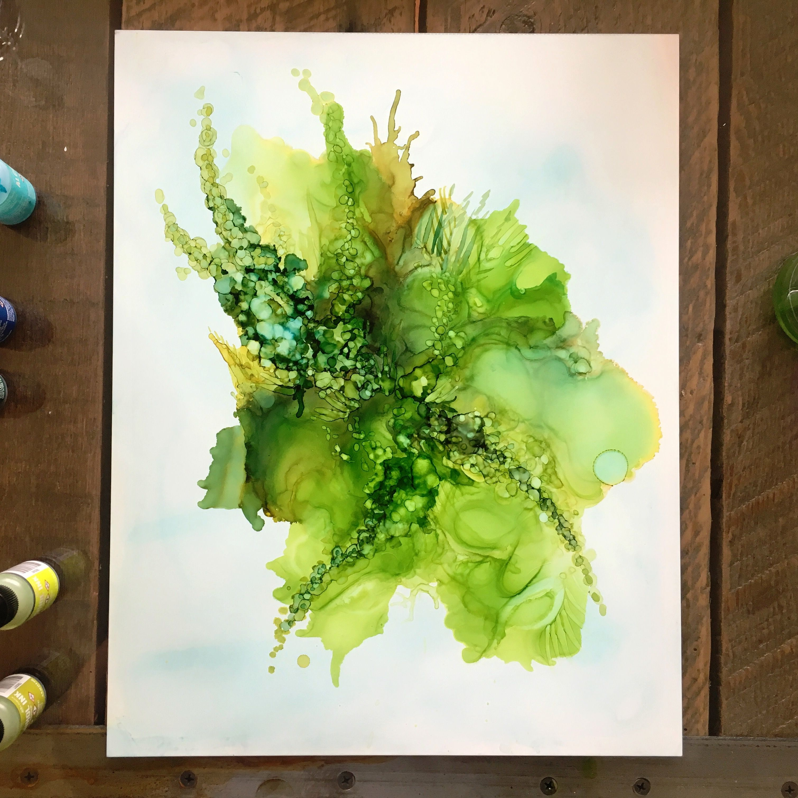 Botanical Art Alcohol Ink On Yupo Paper Abstract Art By Jess