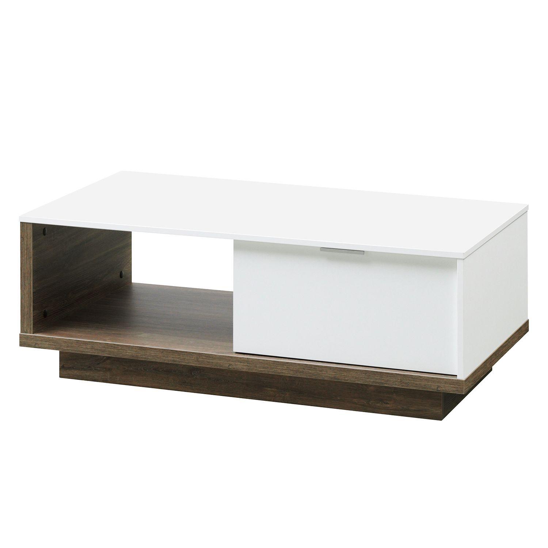 Couchtisch My Ell - Weiß / Eiche Stirling Dekor, Cs Schmal Jetzt bestellen unter: https://moebel.ladendirekt.de/wohnzimmer/tische/couchtische/?uid=63a91daa-12e9-5cbd-b841-7bbf1dc622b8&utm_source=pinterest&utm_medium=pin&utm_campaign=boards #möbel #schmal #beistelltische #couch #wohnzimmer #couchtische #tische