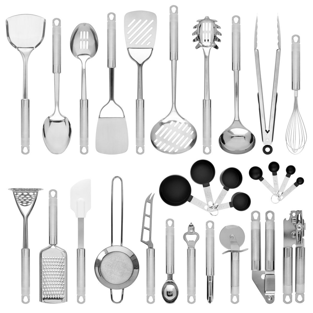 All Inclusive 29 Piece Cookware Set Is Complete With An Extensive Selection Of All The Tools Needed To Be A M Utensil Set Cookware Utensils Kitchen Utensil Set