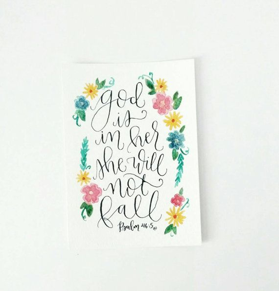 Original Calligraphy Verse 5x7 Hand Lettered Piece God