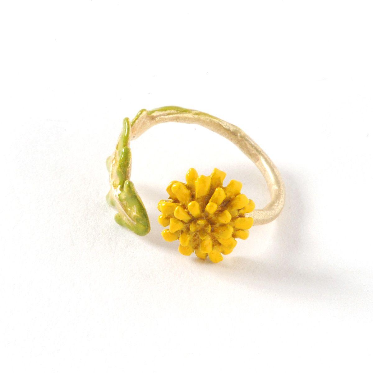 Palnart Poc Dandelion Ring   Dandelions, Flower children and Ring