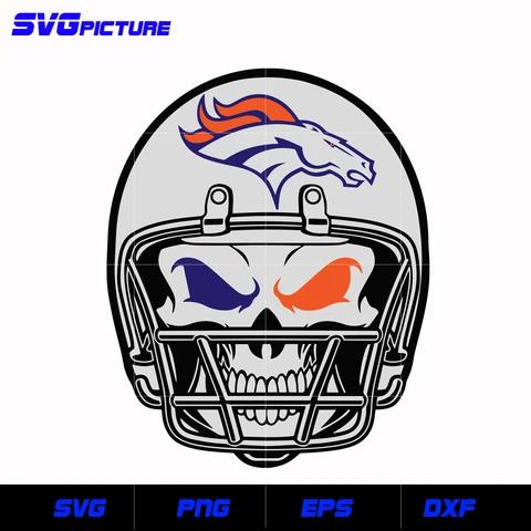Denver Broncos Skull svg, nfl svg, eps, dxf, png, digital