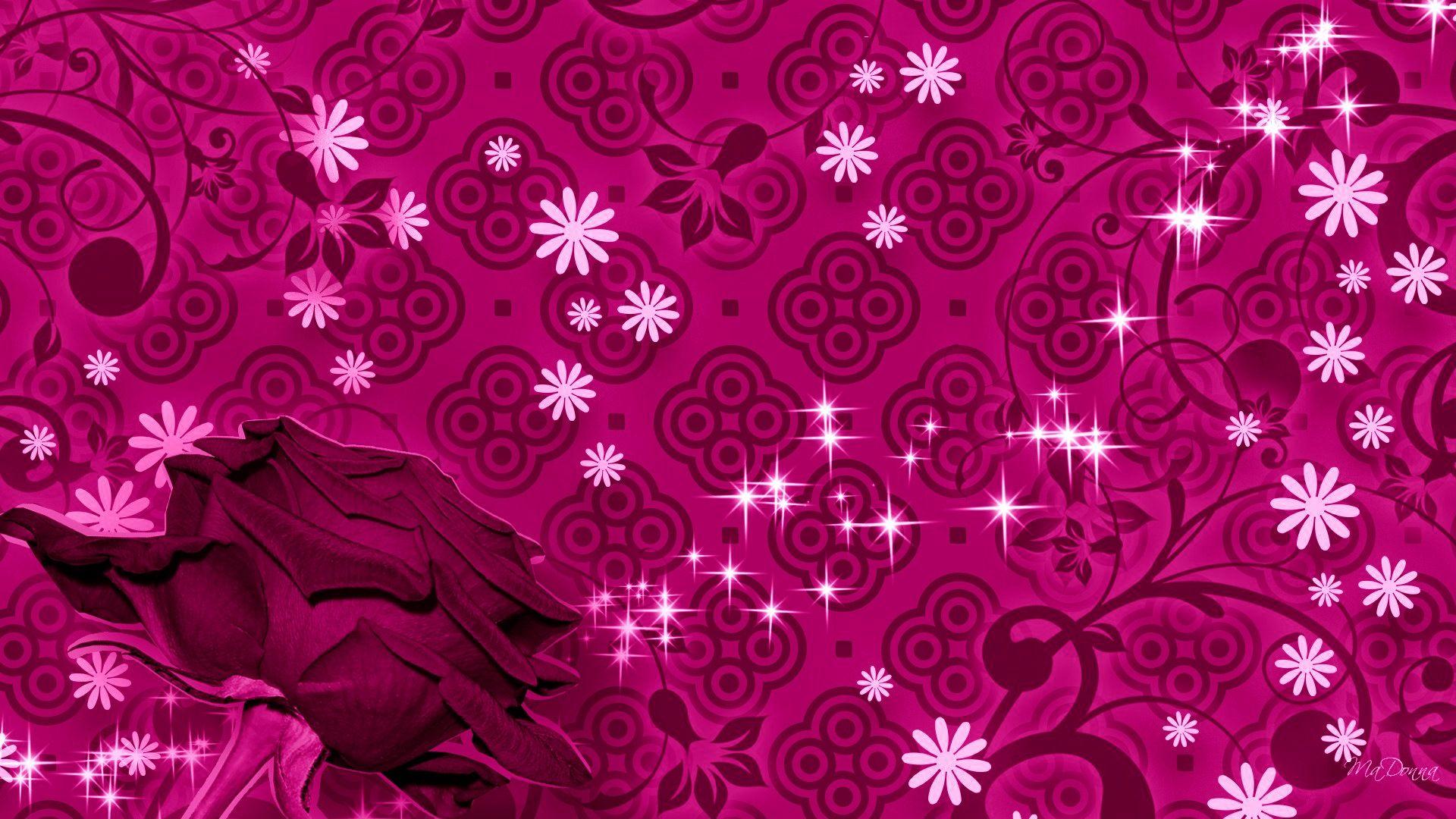 Rose dark pink hd pattern desktop wallpaper 3d hd for Pink 3d wallpaper