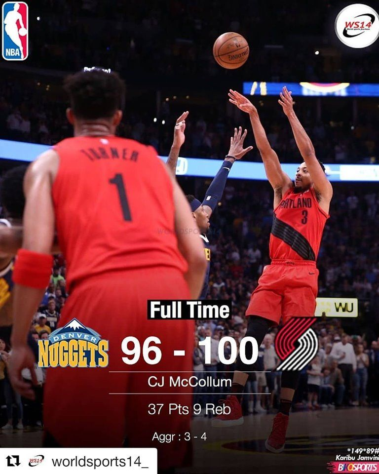 Blazers win Game 7 against Nuggets and win the Western
