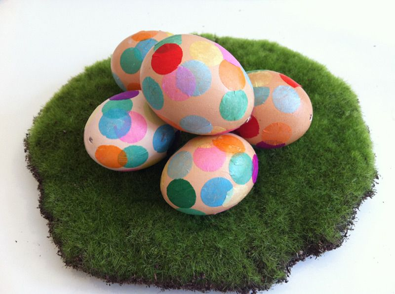 Confetti and washi-tape Easter eggs