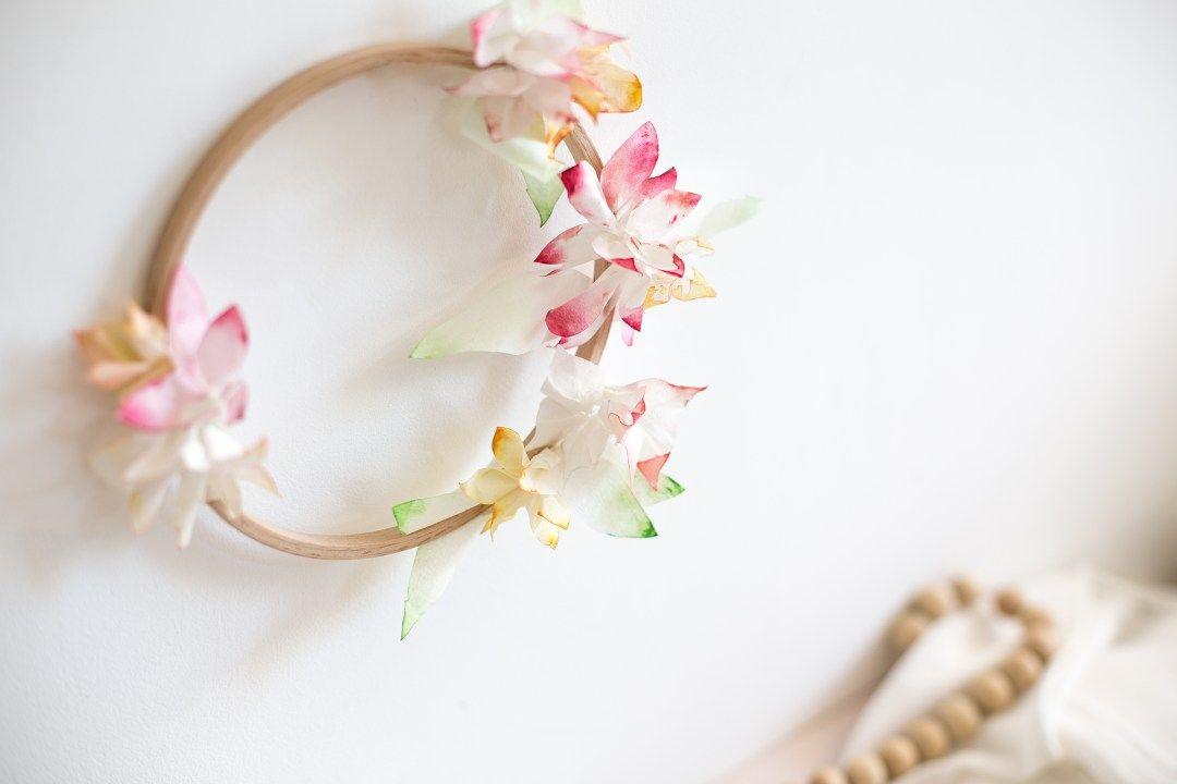 diy couronne fleurie et de pleine de f erie comme une princesse couronne de fleurs. Black Bedroom Furniture Sets. Home Design Ideas