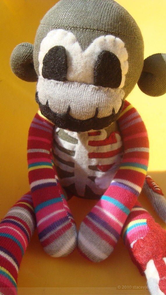halloween sock monkeys | Bernice - Zombie Undead Halloween Sock Monkey | Handmade Creations