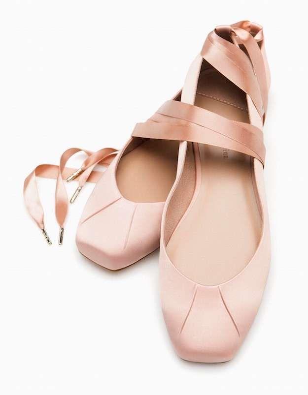954ddfbbea1 Stradivarius Colección Calzado y Complementos Primavera 2016  fotos modelos  - Stradivarius bailarinas ballet