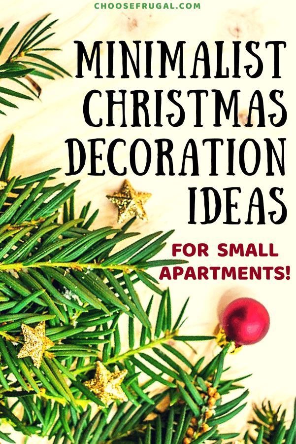 Minimalist Christmas Decoration Ideas For Small Spaces