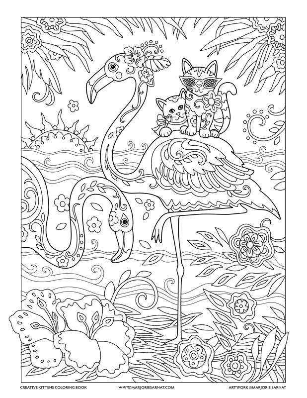 Flamingos : Creative Kittens Coloring Book by Marjorie Sarnat ...