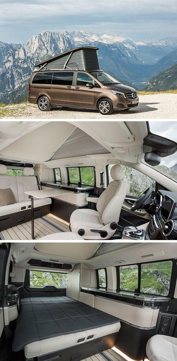 A Home Far Away From Home The New Mercedes Benz Marco Polo New Mercedes Van Interior Van Life