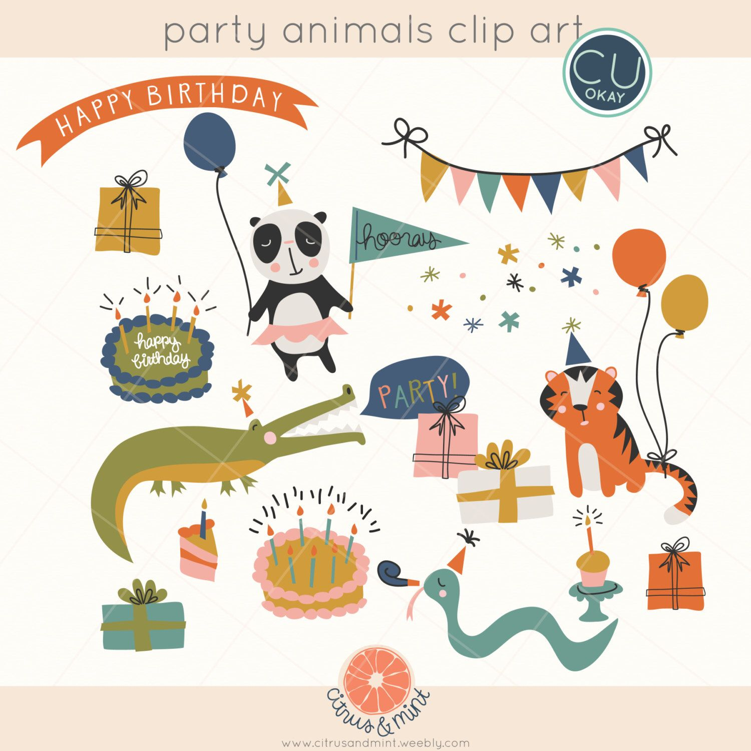 This Item Is Unavailable Etsy Animal Party Birthday Party Clipart Clip Art