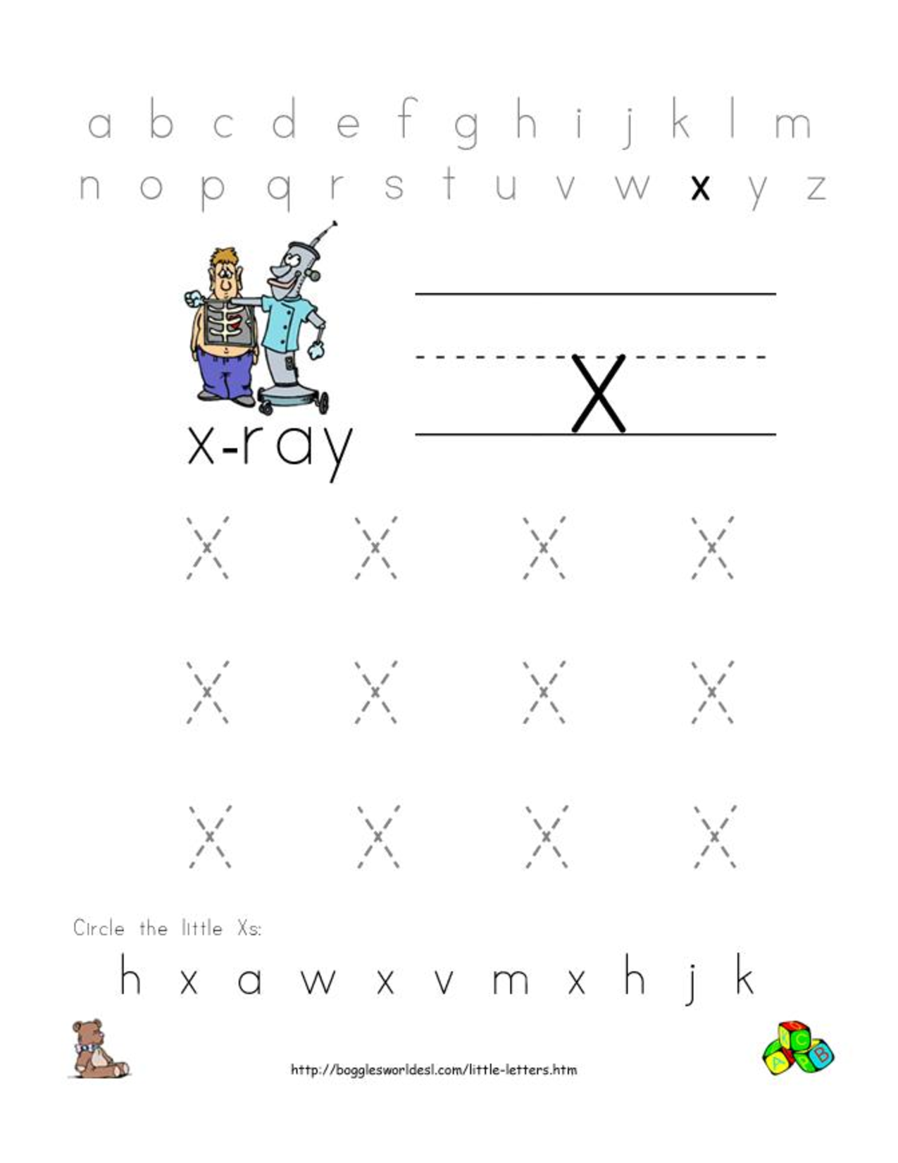 Preschool letters worksheet - Alphabet Worksheets For Preschoolers Alphabet Worksheet Little Letter X
