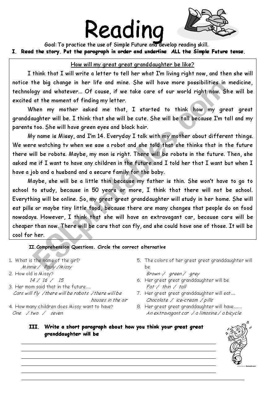 hight resolution of Tenses Worksheets For Grade 5 Pdf