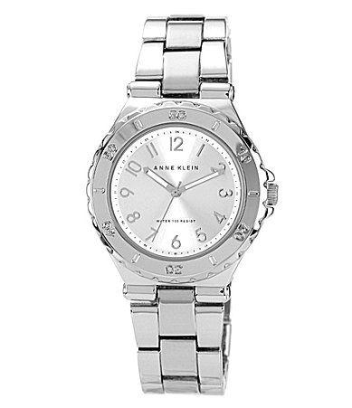 Anne Klein Silvertone Link Bracelet Watch #Dillards