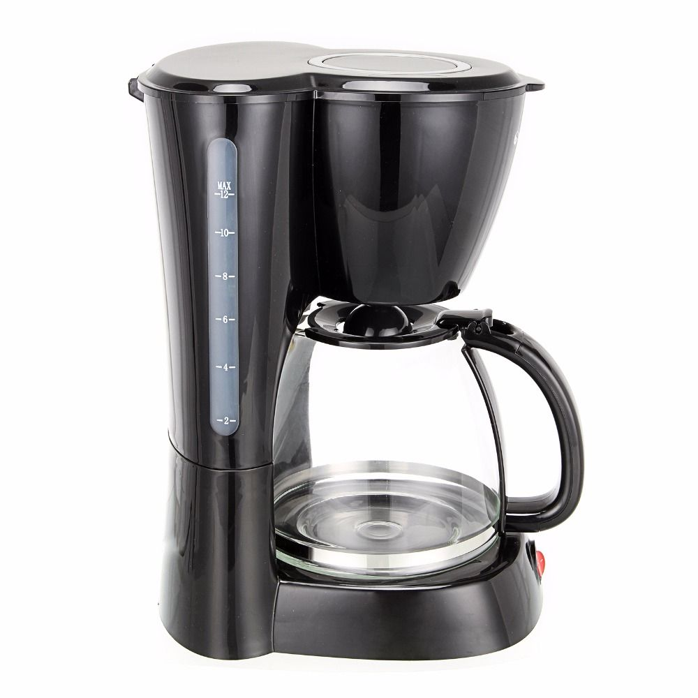 Uncategorized 220v Kitchen Appliances 800w capacity 12 cups drip coffee maker household auto off hourglass cafe machine work indicator